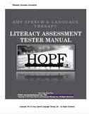 Phonological Awareness Assessment