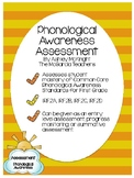 Phonological Awareness Assessment