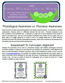 Phonological Awareness Assessment: A Foundational Reading Skills Diagnostic Tool
