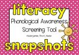 Phonological Awareness Assessment Kindergarten