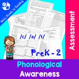 Phonological Awareness Assessment PreK - 2