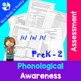 Phonological Awareness Assessment PreK - 2