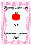 Phonological Awareness - Beginning Sounds Sort. Qld Beginn