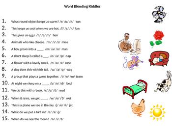 Phonological Awareness- Blending