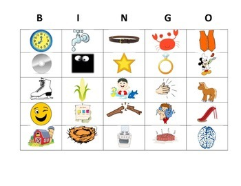Phonological Awareness Blending Bingo (CCVC/CVCC)