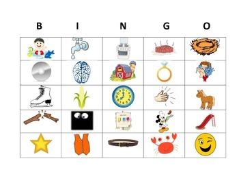 Phonological Awareness Blending Bingo (CCVC/CVCC)