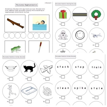 Phonological Awareness Bundle:  Segmentation, Substitution, and more!
