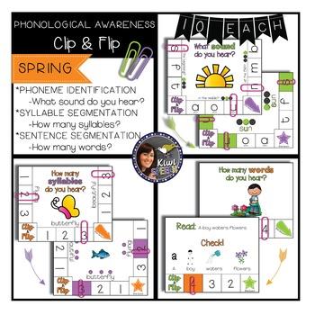 Phonological Awareness CLIP & FLIP {Spring}