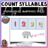 Phonological Awareness Count Syllables BOOM Cards distance