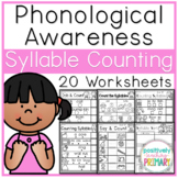Phonological Awareness | Counting Syllables | No Prep Worksheets