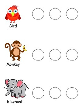 Phonological Awareness - Counting Syllables: animals