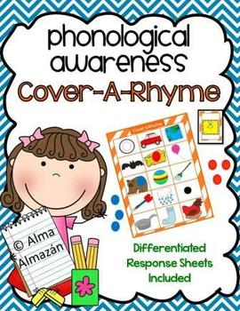 Rhyming-Phonological Awareness Cover-a-Rhyme Game