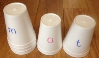 Phonological Awareness Cups