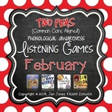 Phonological Awareness Curriculum: Text Based & Common Core-February {Set 2}
