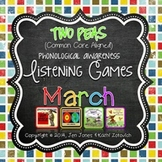Phonological Awareness Curriculum: Text Based & Common Core-March {Set 2}