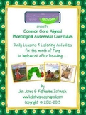 Phonological Awareness Curriculum: Text Based & Common Core - May Bundle