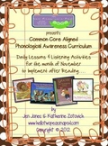 Phonological Awareness Curriculum: Text Based & Common Core - November Bundle