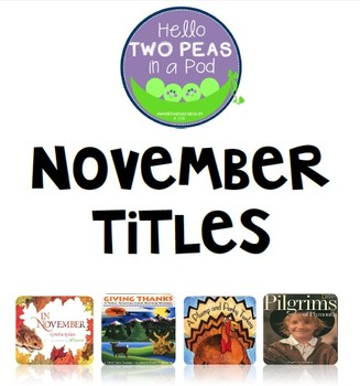 Phonological Awareness Curriculum: Text Based & Common Core-November {Set 2}