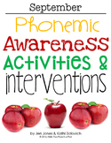 Phonemic Awareness Activities & Interventions - September