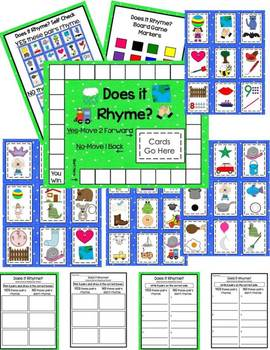 Rhyming-Phonological Awareness-Does It Rhyme Board Game