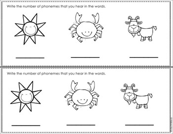 Phonological Awareness Exit Tickets