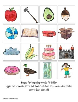 Phonological Awareness File Folder Fun with Syllables and Sounds