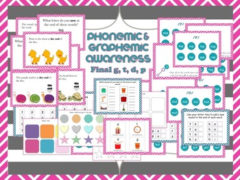 Phonological Awareness & Final Consonant Deletion - g, d, t, p