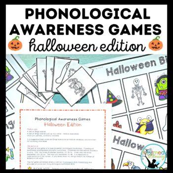 Phonological Awareness Games-Halloween Edition