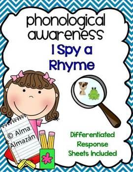 Rhyming-Phonological Awareness- I Spy a Rhyme