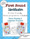 Phonological Awareness Identification of First Sounds