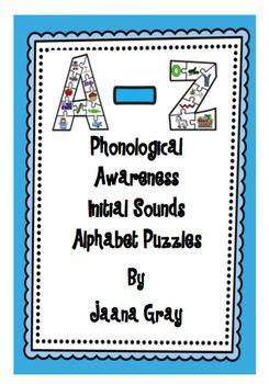 Phonological Awareness - Initial Sounds Alphabet Puzzles