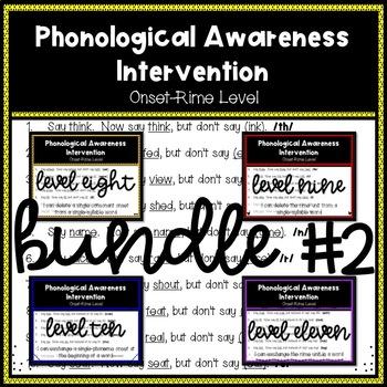 Phonological Awareness Intervention BUNDLE 2 (Onset-Rime Level)