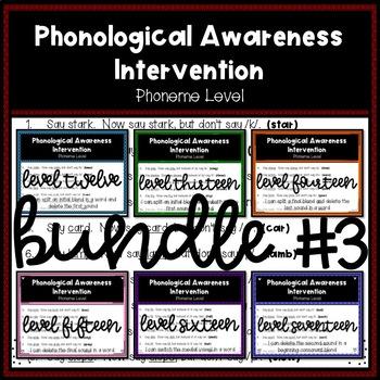 Phonological Awareness Intervention BUNDLE 3 (Phoneme Level)