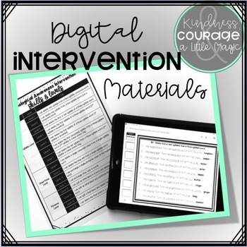 Phonological Awareness Intervention BUNDLE 4 (Phoneme Level)