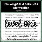 Phonological Awareness Intervention Level 1 (Syllable Level)