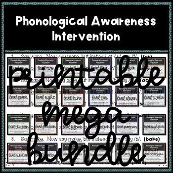 Phonological Awareness Intervention (PRINTABLE VERSION ONLY) MEGA BUNDLE