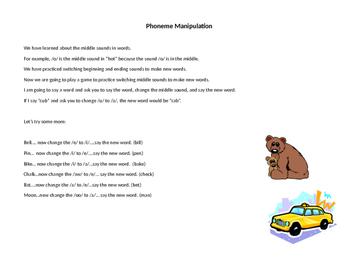 Phonological Awareness- Manipulating Phonemes