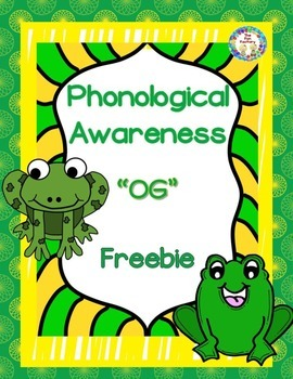 Phonological Awareness ~OG~ Small Group or Center Activity {FREEBIE!}