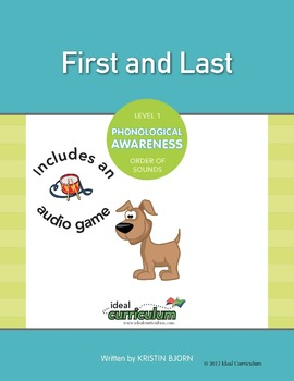 Phonological Awareness Order of Sounds Activity -First and Last