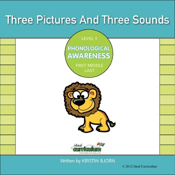 Phonological Awareness Order of Sounds Activity -3 Pictures, 3 Sounds