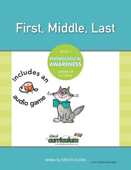 Phonological Awareness Order of Sounds Activity (First Middle Last)