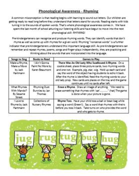 Phonological Awareness Parent Involvement