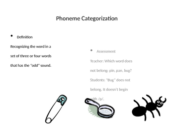 Phonological Awareness- Phoneme Isolation