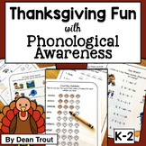 Thanksgiving Phonological Awareness Activities | Speech Therapy
