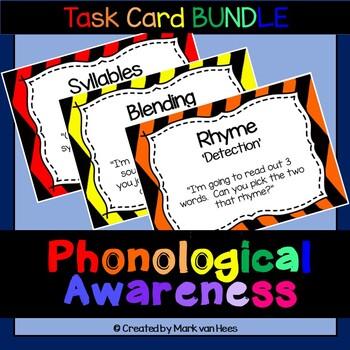 Phonological Awareness Practice - Task Card - BUNDLE (SPAT-R)