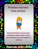 Phonological Awareness Probes #Mar2018SLPMustHave