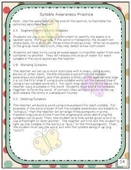 Phonological Awareness Program for Reading Readiness