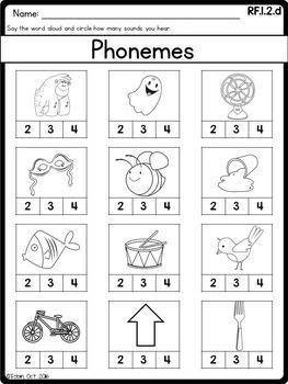 Phonological Awareness- RF1.2