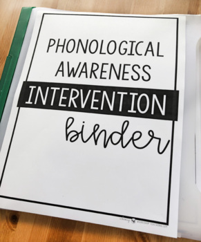 Phonological Awareness Reading Intervention Assessment Binder and Daily Practice