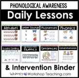 Phonological Awareness Reading LESSONS + Intervention Assessment Binder BUNDLE